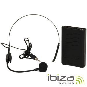 Microfone Headset S/ Fios 203.5mhz IBIZA - (PORTHEAD12)