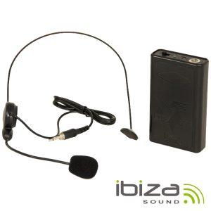 Microfone Headset S/ Fios P/ Colunas Port IBIZA - (PORTHEAD8)