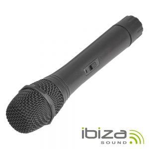 Microfone S/ Fios P/ Colunas Port Uhf 863mhz IBIZA - (PORTUHF-HAND)