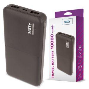 PoWerbank 10000ma C/ Ficha Micro USB - (PB10000BK)