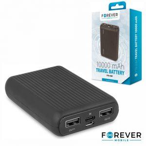 PoWerbank 10000ma C/ Ficha Micro USB 2USB FOREVER - (PTB-05M)