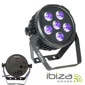 Projetor Luz C/ 6 LEDS UV DMX IBIZA - (PARLED606UV)