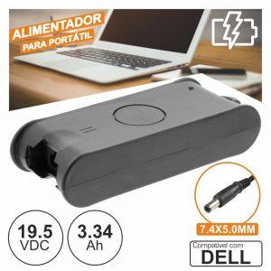 Alimentador P/ Dell 19.5v 3.34a 65W 7.4x5.0mm - (PSUP-NBT-DE02)
