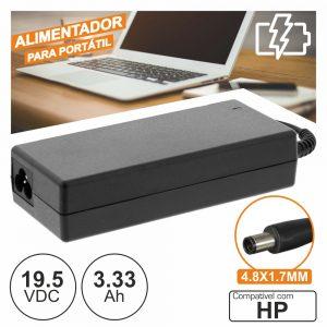 Alimentador P/ Hp 19.5v 3.33a 65W 4.8x1.7mm - (PSUP-NBT-HP07)