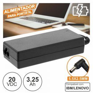 Alimentador P/ Ibm/Lenovo 20v 3.25a 65W 5.5x2.5mm - (PSUP-NBT-LE03)