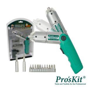 Aparafusadora Elétrica S/ Fios Iluminação LED PROSKIT - (PT-1136F)