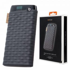 PoWerbank 10000ma C/ Ficha Micro USB 2USB Preto FOREVER - (PTB-01)