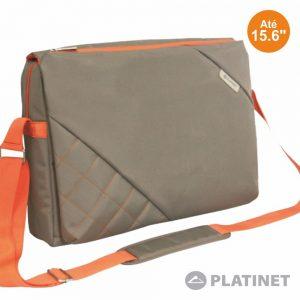 "Bolsa Laptop/Tablet 15.6"" Bege/Laranja PLATINET - (PTO156MCB)"