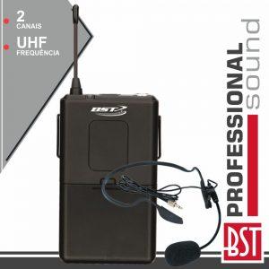 Microfone Headset S/ Fios 2 Canais FM P/ PWa80 BST - (PWA80-BP)