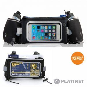 Bolsa Desporto Cintura P/ Telemóvel C/ 2 Garrafas PLATINET - (PWB)