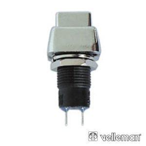 Interruptor Off-On Prateado VELLEMAN - (R1383B)