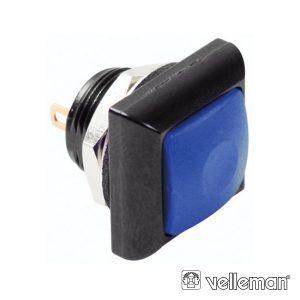 Interruptor Pressão Miniatura 1p Spst Off-(On) Azul - (R1397B)