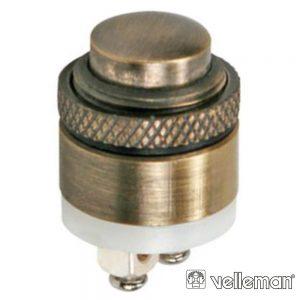 Interruptor Pressão Miniatura 1P SPST OFF-(ON) VELLEMAN - (R1800DB)