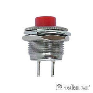 Interruptor Miniatura Vermelho VELLEMAN - (R1820B)