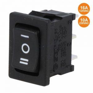 Interruptor Basculante 10a-250v Sp3t (On)-Off-(On) - (R1933H)