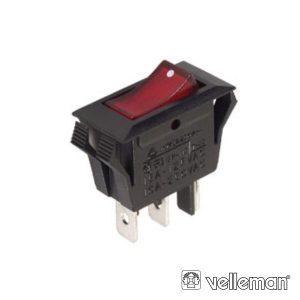 Comutador Basculante On-On Spdt 3p VELLEMAN - (R902B)