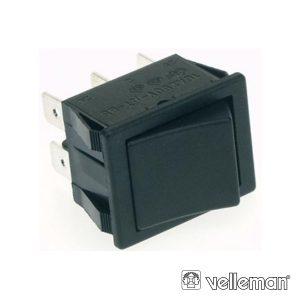 Comutador Basculante 10a-250v Dpst On-On Tecla Preta - (R905B)