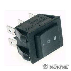 Interruptor Basculante 10a-250v Dp3t On-Off-On - (R906C)