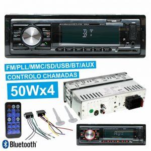 Auto-Rádio Mp3 Wma 50Wx4 C/ FM/Pll/Mmc/SD/USB Bluetooth - (RADIO-CAR-SPIRIT)