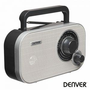Rádio AM/FM/Aux Portátil Cinza DENVER - (TR-54GREYMK2)