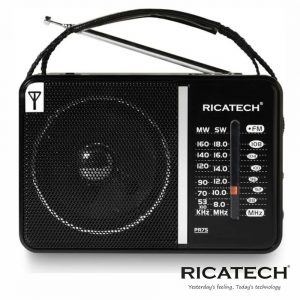 Rádio Portátil AM/FM USB/SD Retro c/Bateria Interna RICATECH - (PR75)