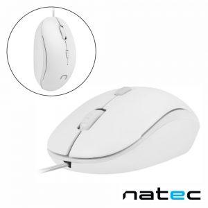 Rato Óptico 800-1200DPI USB Branco NATEC - (NMY-1188)