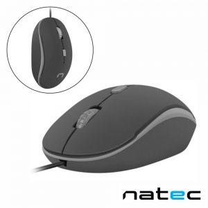 Rato Óptico 800-1200DPI USB Preto/Cinza NATEC - (NMY-1186)