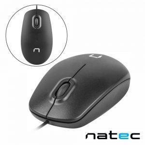 Rato Óptico C/ Fios 1000DPI USB Preto NATEC - (NMY-1185)