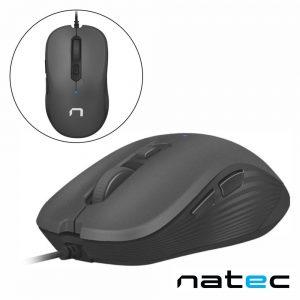 Rato Óptico C/ Fios 800-3200DPI USB Preto NATEC - (NMY-0918)