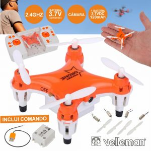 Drone De Bolso C/ Câmara VELLEMAN - (RCQC6)