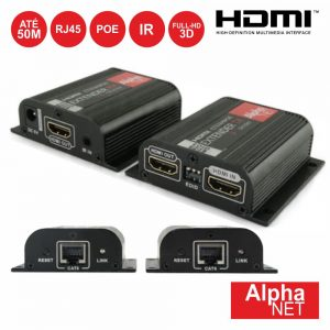 Receptor E Transmissor HDMI Via RJ45 CAT6 Poe Loop Edid 50m - (CT374/9POE)