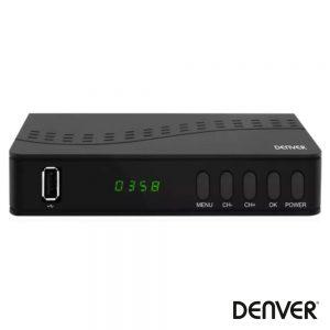 Receptor TDT FULL HD 1080P DVB-T2 Canais FTA USB DENVER - (DTB-140)