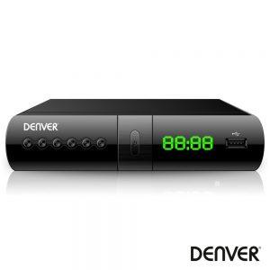 Receptor TDT Full HD 1080p DVB-T2 Canais FTA USB DENVER ¨ - (DTB-133)
