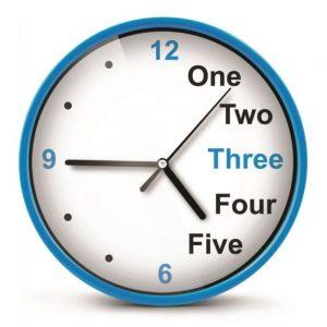 Relógio De Parede Analógico Azul 20cm - (EHC014B)