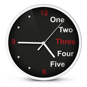 Relógio De Parede Analógico Branco 20cm - (EHC014W)
