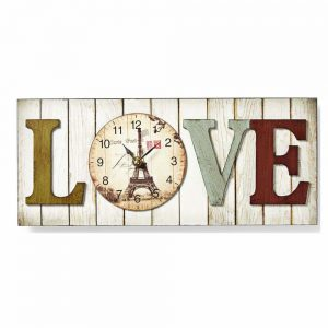Relógio De Parede Analógico Modelo Love - (CLWA001WDL40)