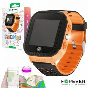 Relógio Segurança Gps Gprs Sim Criança Laranja FOREVER - (KW-200OR)