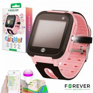 Relógio Segurança Gprs Lbs Sim Criança Rosa FOREVER - (KW-50PK)