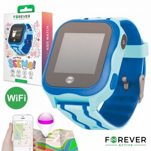 Relógio Segurança Gps Gprs Wifi Sim Criança Azul FOREVER - (KW-300BL)
