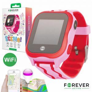 Relógio Segurança Gps Gprs Wifi Sim Criança Rosa FOREVER - (KW-300PK)