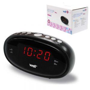 Relógio Despertador AM/FM Visor LED - (CLOCK-RELAX)