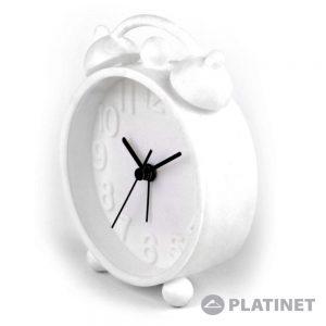 Relógio Despertador Analógico Branco PLATINET - (PZACHW)
