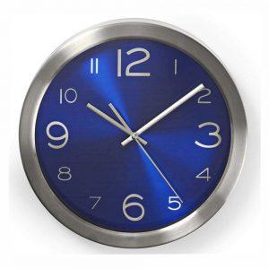 Relógio De Parede Analógico Azul 30cm - (CLWA010MT30BU)