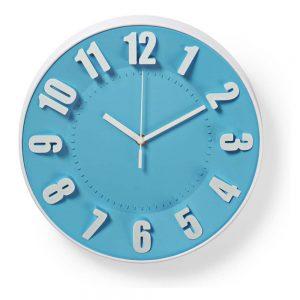 Relógio De Parede Analógico Azul 30cm - (CLWA012PC30BU)