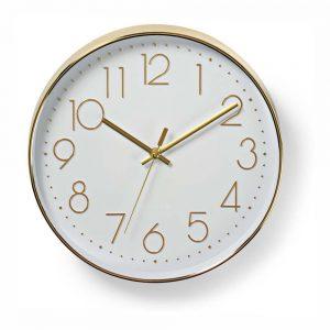 Relógio De Parede Analógico Dourado 30cm - (CLWA015PC30GD)