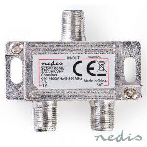 Repartidor Fichas F C/2 Vias UHF/Satélite 2400mhz - (SCOM100ME)