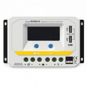 Regulador Painel Fotovoltáico 30a C/ USB 12-24V JOIN - (RH30A/4)