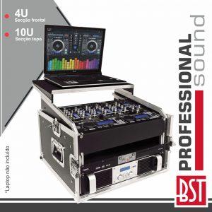 Mala P/ Equipamentos DJ 10u + 4u Suporte P/ Laptop BST - (RMC6U)