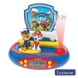 Relógio Despertador Projeção E Efeitos PaW Patrol Lexibook - (RP500PA)