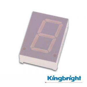 Display 1 Dígito 20mm Anodo Comum Vermelho Kingbright - (SA08-11HWA)
